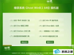 绿茶系统Win8.1 快速装机版64位 2021.04